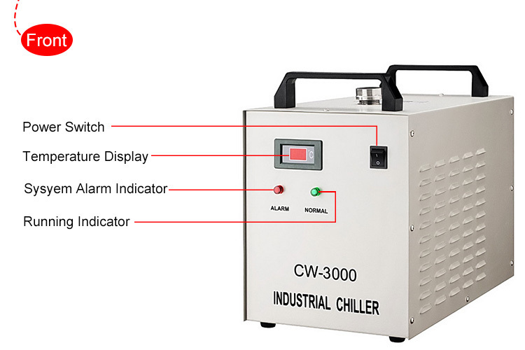Water Cooling Chiller For CO2 Laser Engraving
